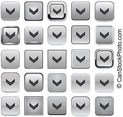 Square grey download icons.