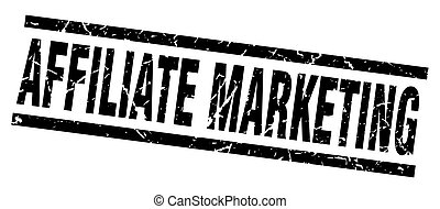 square grunge black affiliate marketing stamp