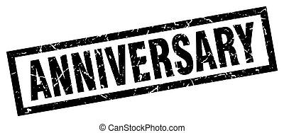 square grunge black anniversary stamp