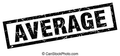 square grunge black average stamp