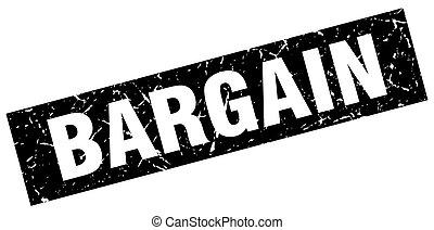 square grunge black bargain stamp