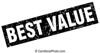 square grunge black best value stamp