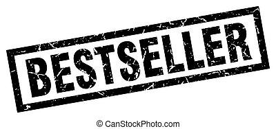 square grunge black bestseller stamp