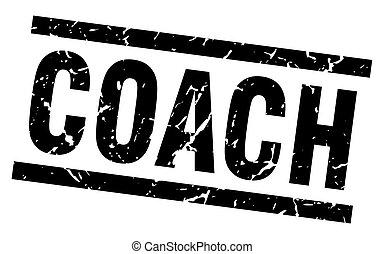 square grunge black coach stamp
