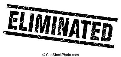 square grunge black eliminated stamp