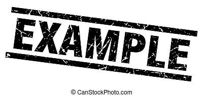 square grunge black example stamp
