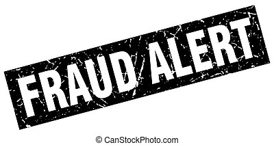 square grunge black fraud alert stamp