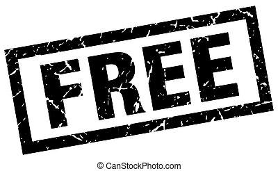 square grunge black free stamp