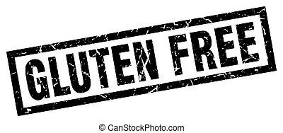 square grunge black gluten free stamp