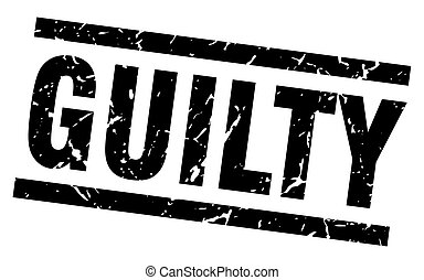 square grunge black guilty stamp