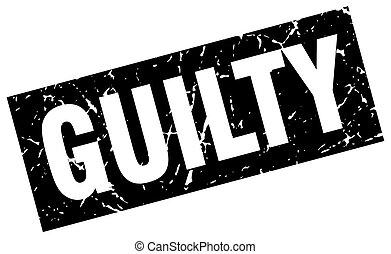 square grunge black guilty stamp