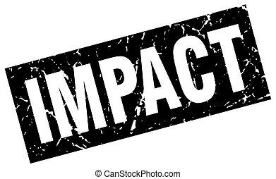 square grunge black impact stamp