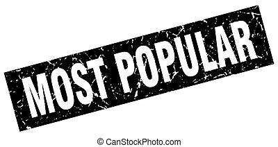 square grunge black most popular stamp