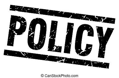 square grunge black policy stamp