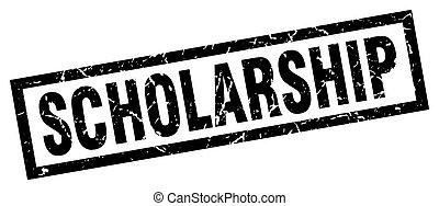 square grunge black scholarship stamp