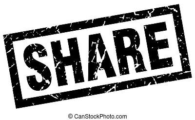 square grunge black share stamp