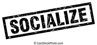 square grunge black socialize stamp