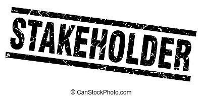 square grunge black stakeholder stamp