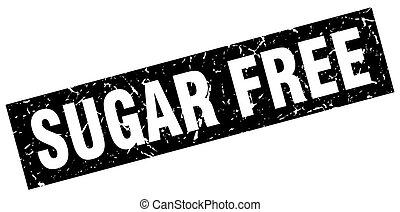 square grunge black sugar free stamp
