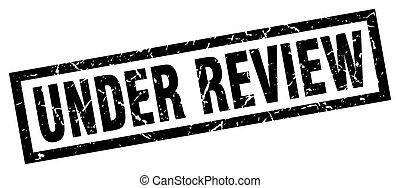 square grunge black under review stamp