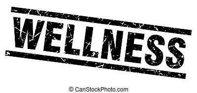 square grunge black wellness stamp