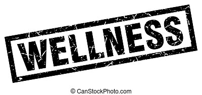 square grunge black wellness stamp