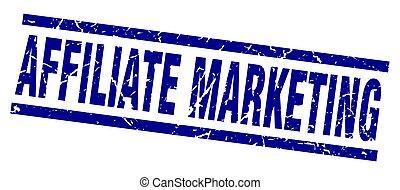 square grunge blue affiliate marketing stamp