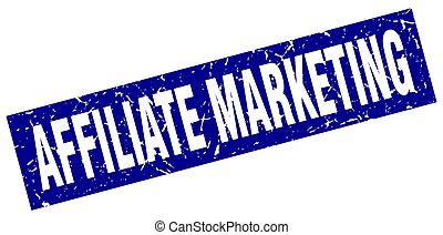 square grunge blue affiliate marketing stamp