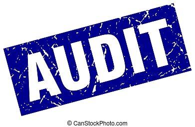 square grunge blue audit stamp