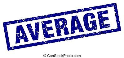 square grunge blue average stamp