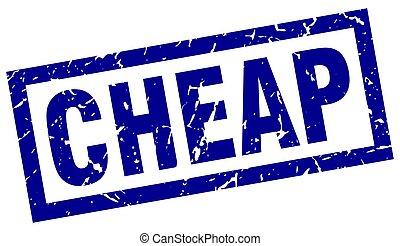 square grunge blue cheap stamp