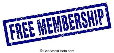 square grunge blue free membership stamp