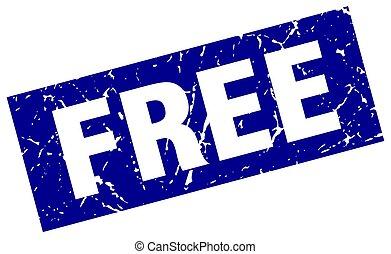 square grunge blue free stamp