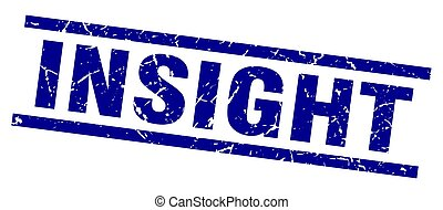 square grunge blue insight stamp