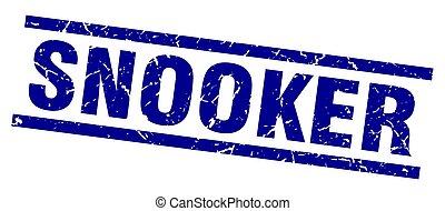 square grunge blue snooker stamp