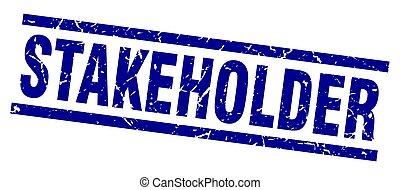 square grunge blue stakeholder stamp