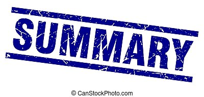 square grunge blue summary stamp