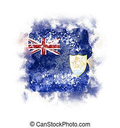 Square grunge flag of anguilla