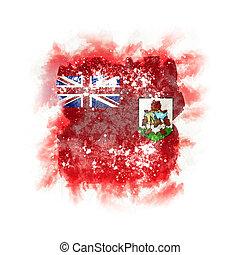 Square grunge flag of bermuda