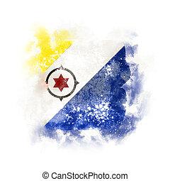 Square grunge flag of bonaire. 3D illustration