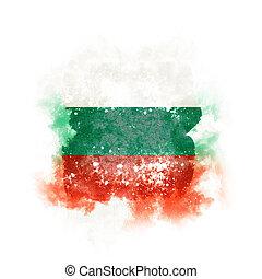 Square grunge flag of bulgaria
