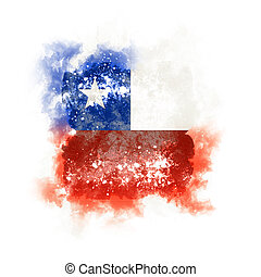 Square grunge flag of chile