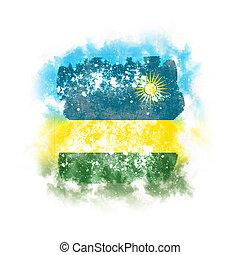 Square grunge flag of rwanda