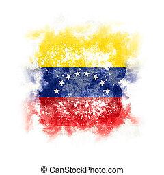 Square grunge flag of venezuela