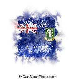 Square grunge flag of virgin islands british