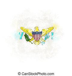 Square grunge flag of virgin islands us