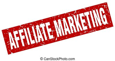 square grunge red affiliate marketing stamp
