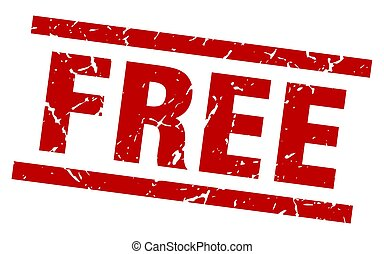 square grunge red free stamp