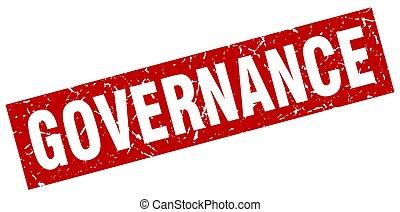 square grunge red governance stamp