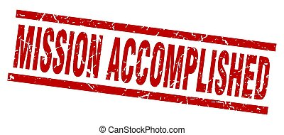 square grunge red mission accomplished stamp